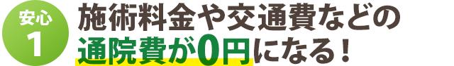 施術料金や交通費などの 通院費が0円になる!